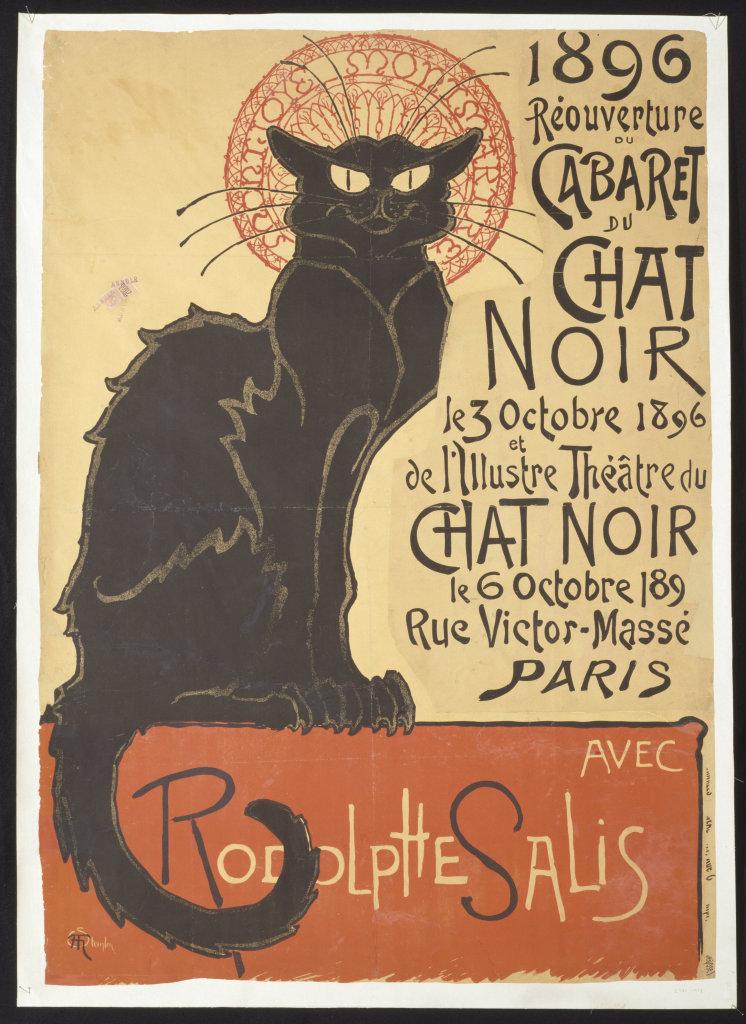 Théophile Steinlen, Cabaret du Chat Noir, 1892