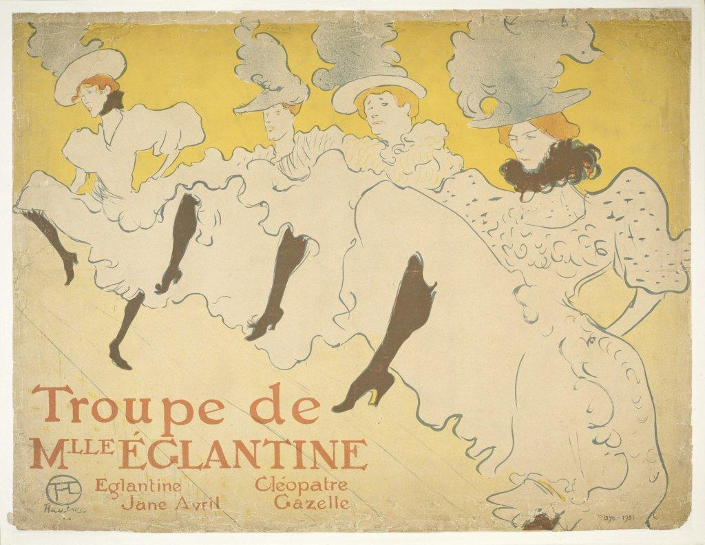 Henri de Toulouse-Lautrec, Troupe de Mlle Églantine, 1896