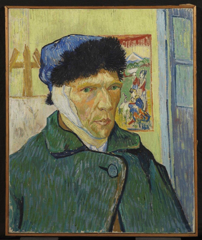 Vincent van Gogh, Autoportrait à l'oreille bandée, 1889.