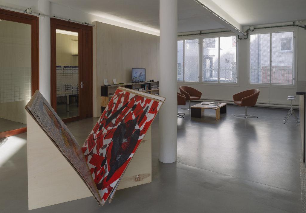 Vue de l'exposition Delphine Coindet, Ventile, 2018 - Le Portique centre régional d'art contemporain du Havre (1)
