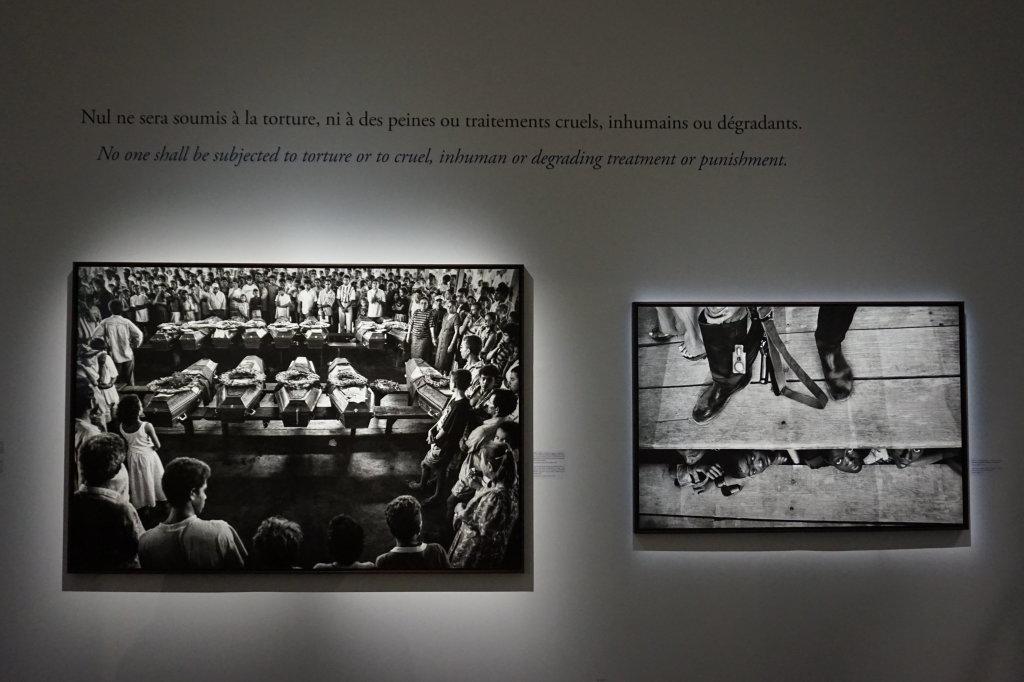 Vue de l'exposition Déclarations, Sebastião Salgado, Musée de l'Homme, Paris (5)