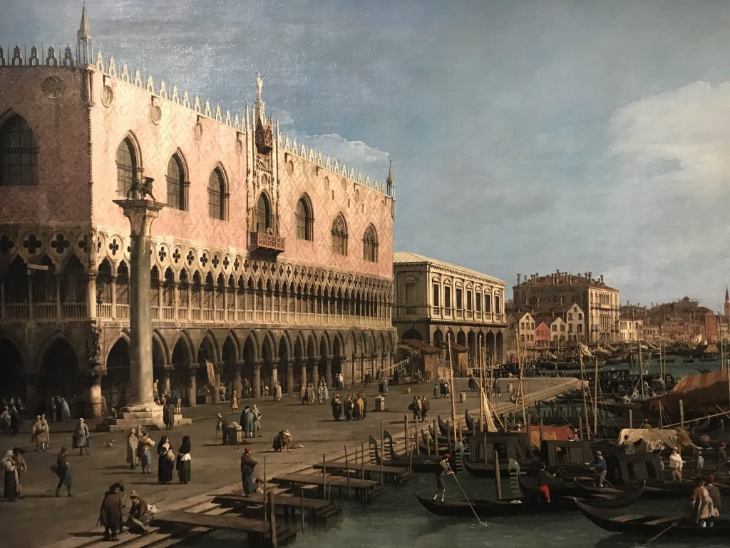 Vue de l'exposition Eblouissante Venise, les arts et l'Europe au XVIIIe siècle - Grand Palais
