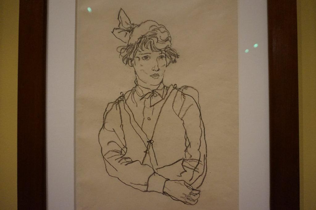 Vue de l'exposition Egon Schiele - Fondation Louis Vuitton