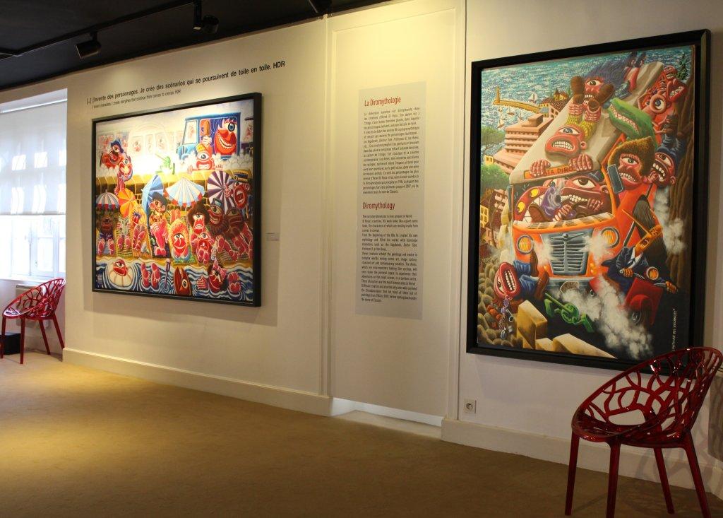 Vue de l'exposition Hervé Di Rosa, Musée du Touquet-Paris-Plage