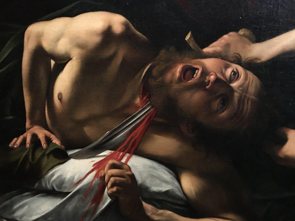 Vue de l'exposition Le Caravage à Rome, amis et ennemis - Musée Jacquemart-André
