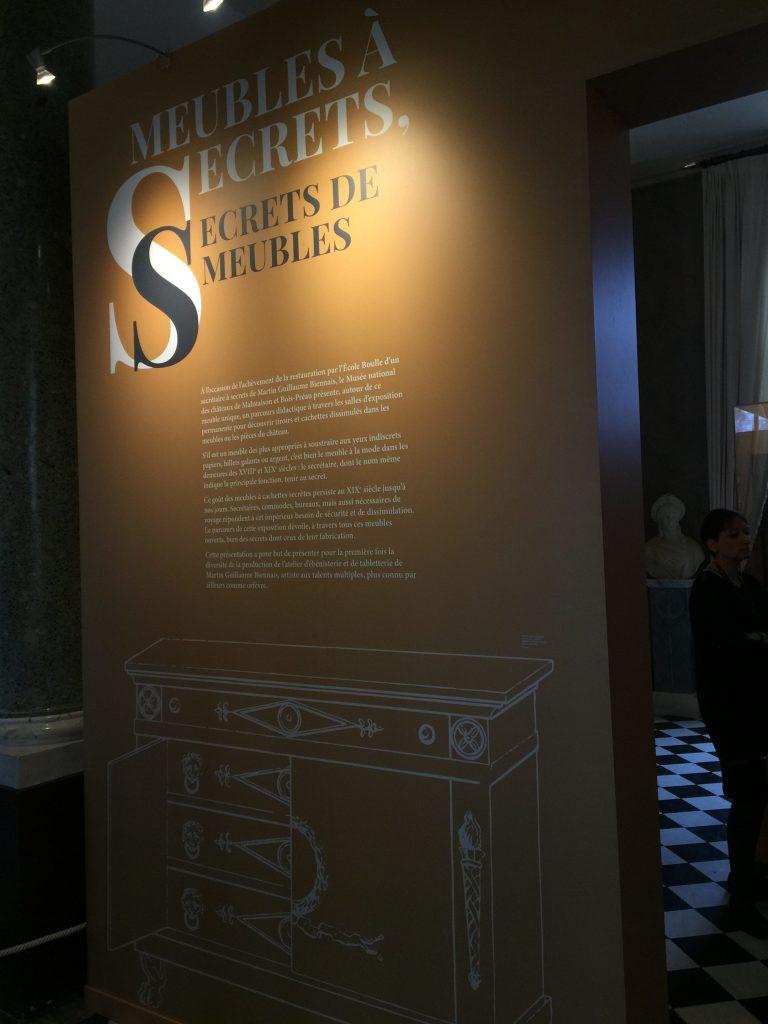 Vue de l'exposition Meubles à Secrets secrets de meubles - Château La Malmaison (1)
