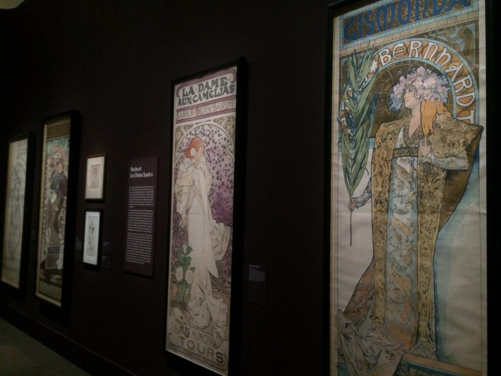 Vue de l'exposition - Mucha