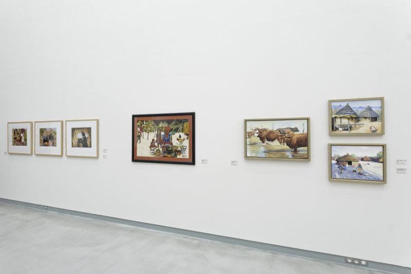 Vue de l'exposition Namibia, l'art d'une jeune géNérATION - Musée Würth (12)