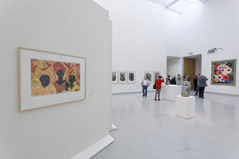 Vue de l'exposition Namibia, l'art d'une jeune géNérATION - Musée Würth (17)