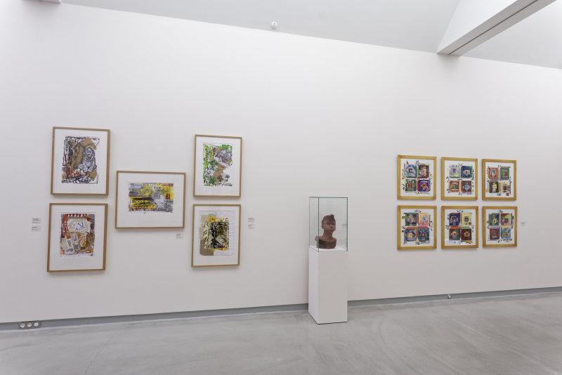 Vue de l'exposition Namibia, l'art d'une jeune géNérATION - Musée Würth (5)