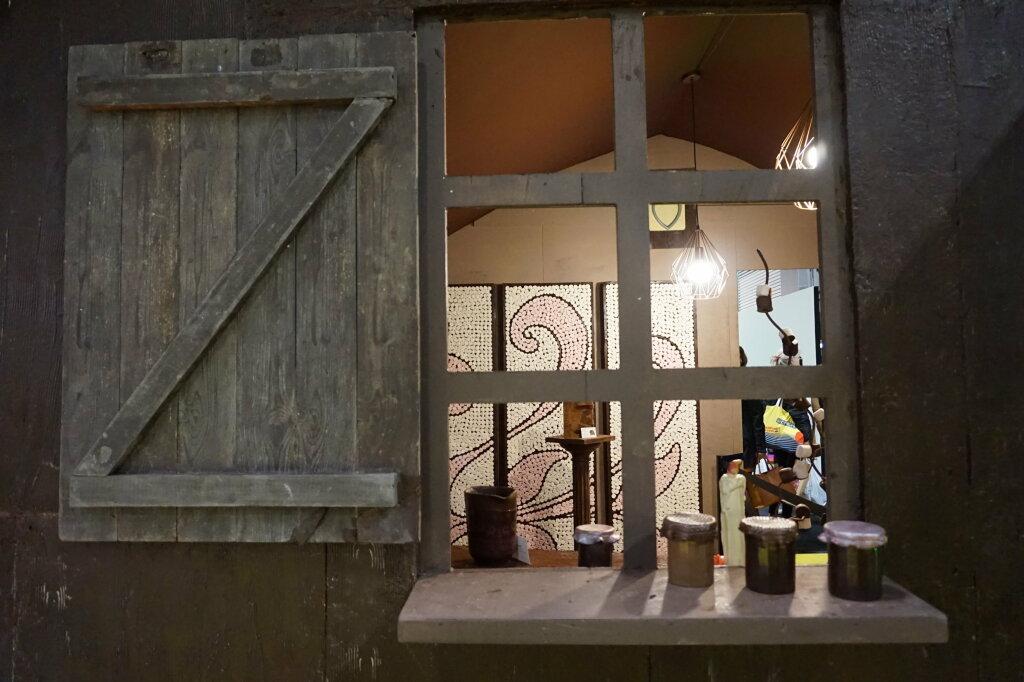 Vue du Salon du Chocolat, Paris 2018 - Maison en chocolat, sculpture monumentale par Jean-Luc Decluzeau (3)