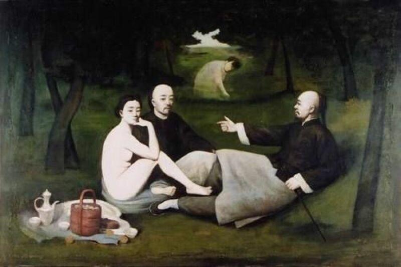 Yin Xin, Déjeuner sur l'herbe, d'après Manet