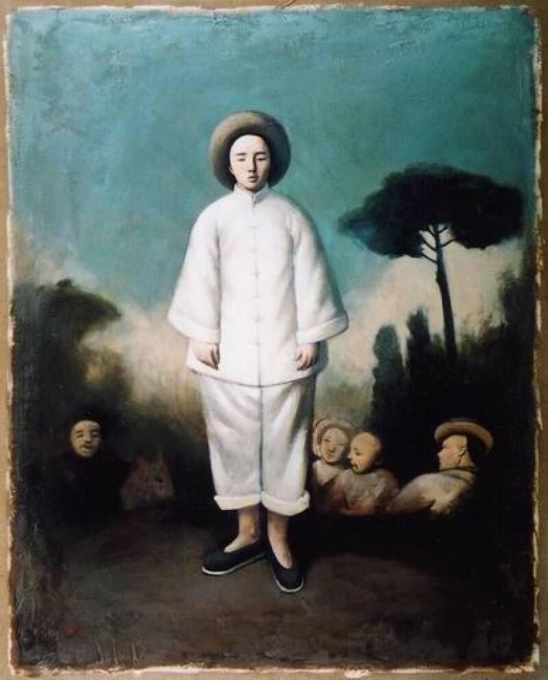 Yin Xin, Pierrot, d'après Watteau, 2002