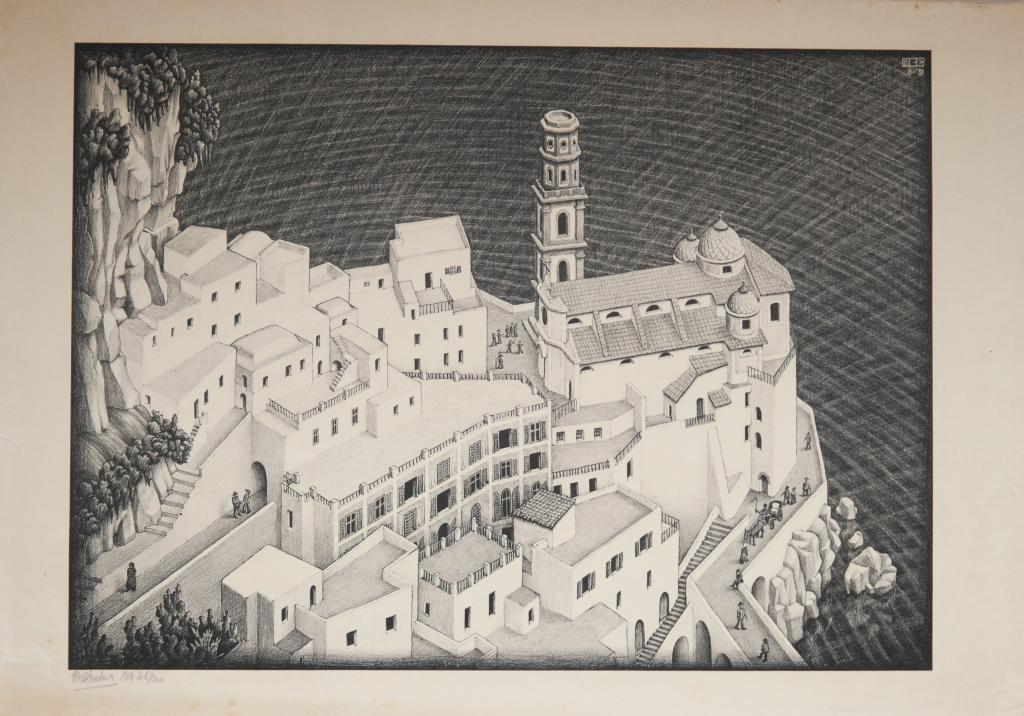Maurits Cornelis Escher, Atrani, Costiera amalfitana, 1931