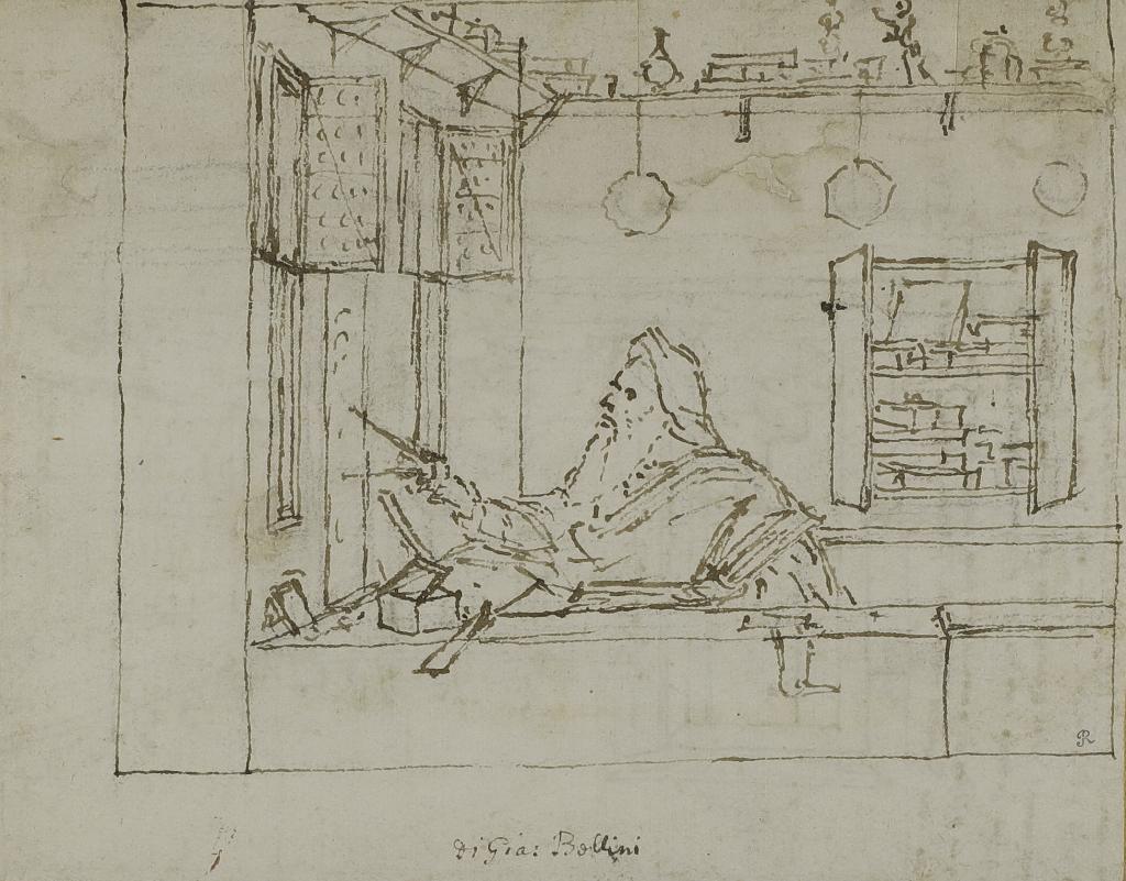 Vittore Carpaccio, Philosophe dans son étude occupé aux mesures géométriques, 1502-1507