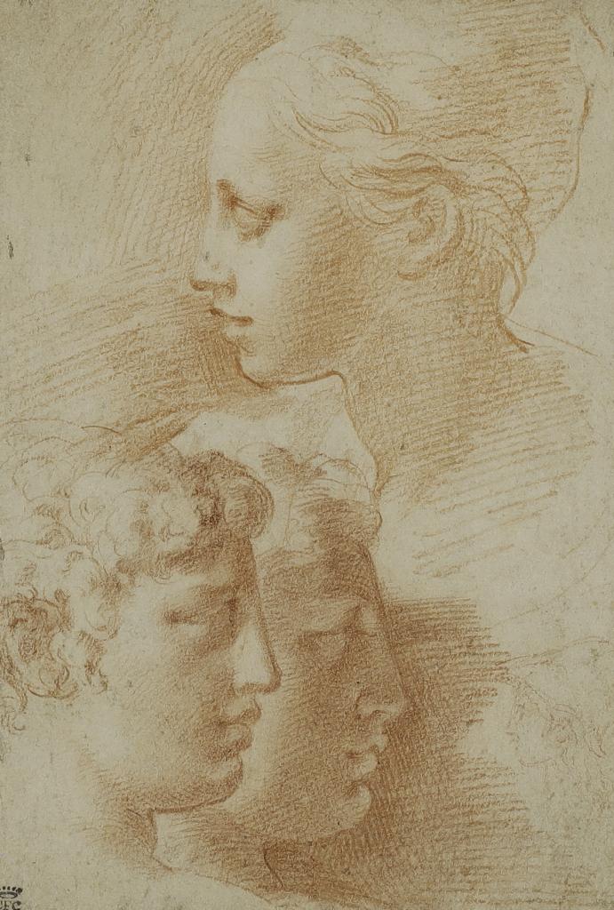 Francesco Mazzola, Études de têtes, 1525-1527