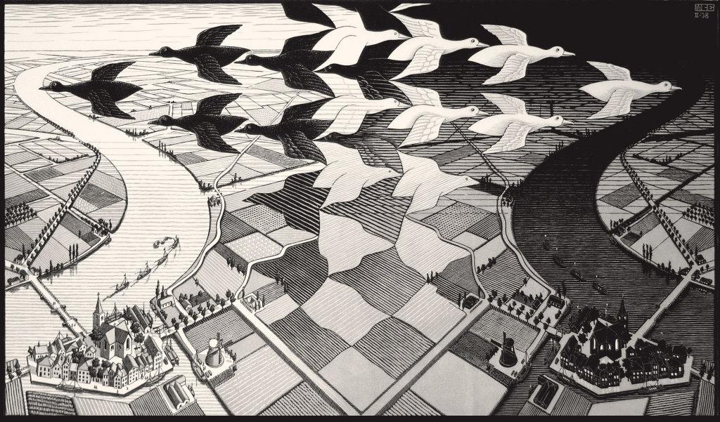 Maurits Cornelis Escher, Giorno e notte, 1938