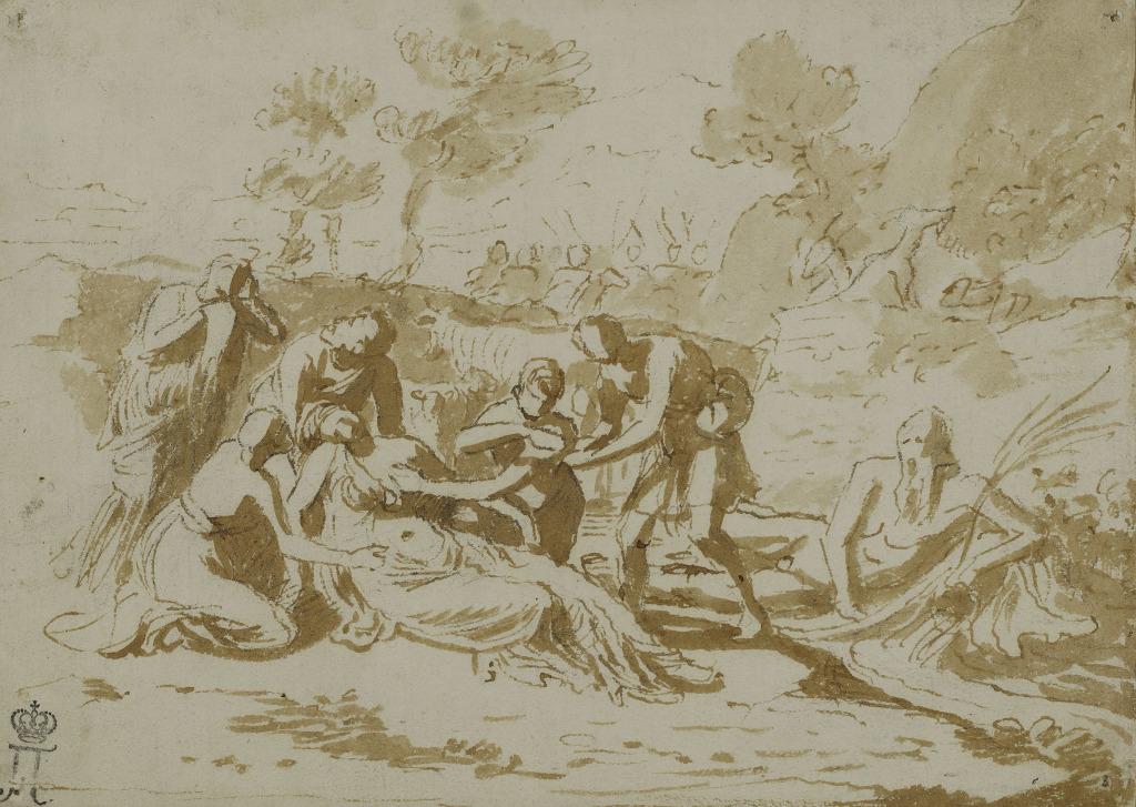 Nicolas Poussin, Zénobie trouvée sur les bords de l'Araxe, vers 1640