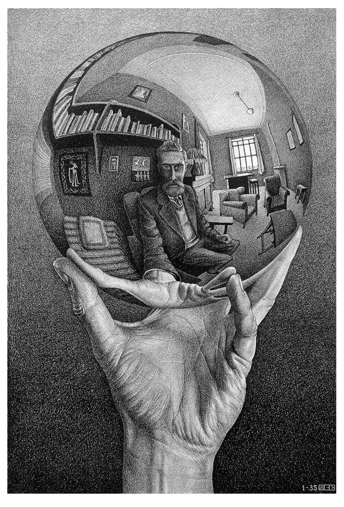 Maurits Cornelis Escher, Mano con sfera riflettente, 1935