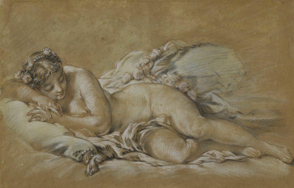 François Boucher, Jeune femme endormie, vers 1758-1760