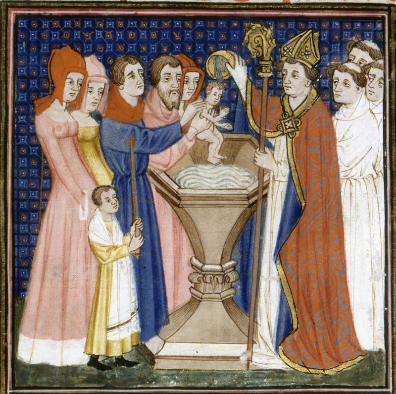 Guillaume Durand, Le sacrement du baptême. Pontifical, France