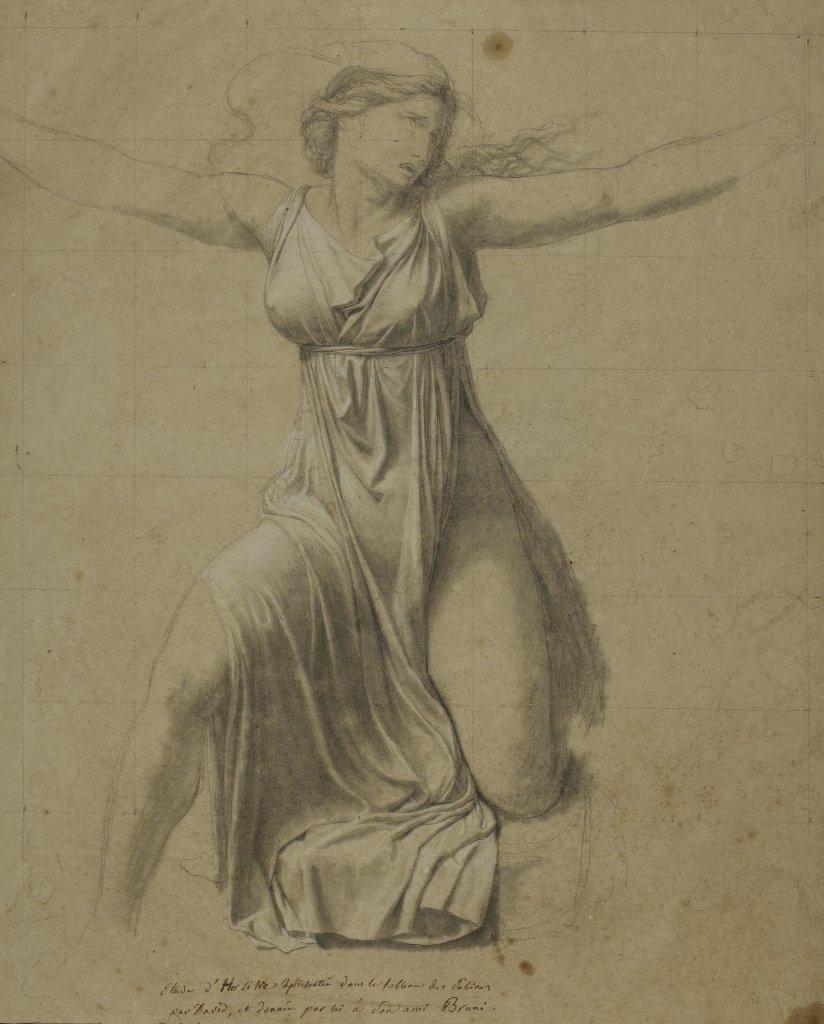 Jacques-Louis David, Étude pour la figure d'Hersilie, 1796