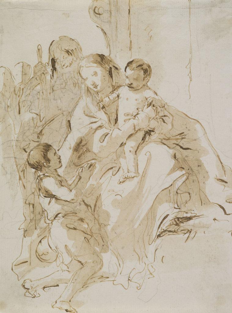 Giovanni Battista Tiepolo, La Sainte Famille avec saint Jean-Baptiste enfant, vers 1760