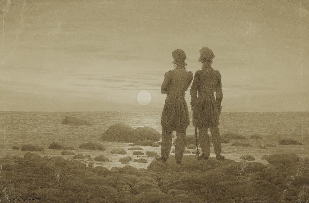Caspar David Friedrich, Deux hommes au bord de la mer, 1830-1835