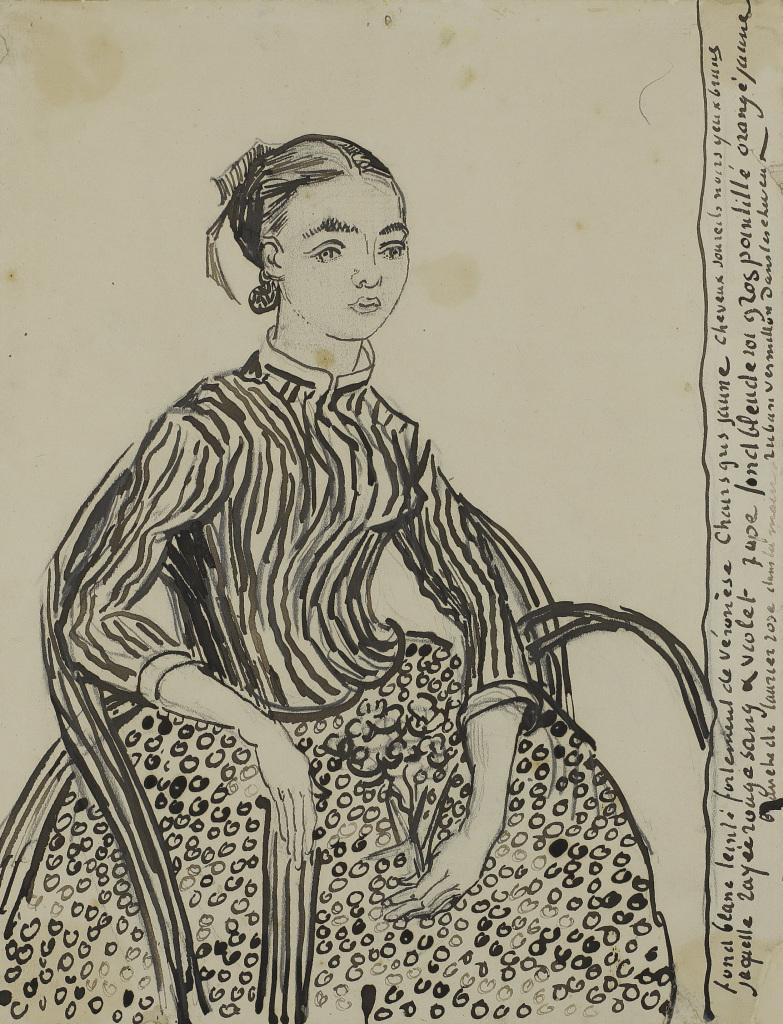 Vincent van Gogh, Portrait d'une jeune femme (La Mousmé), 1888