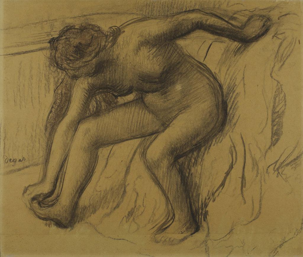 Edgar Degas, Après le bain, vers 1890