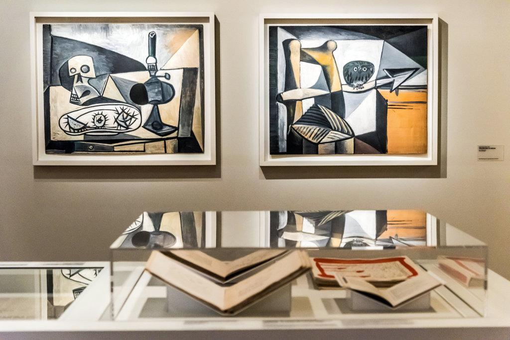 Vue de l'exposition Picasso et la Guerre, Musée de l'Armée, Paris