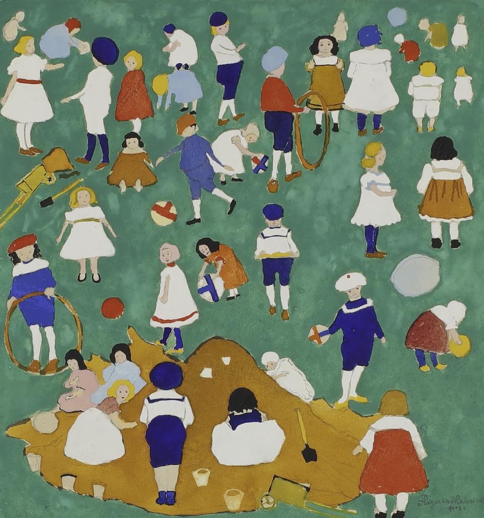 Kasimir Malevitch, Enfants dans un pré, 1908