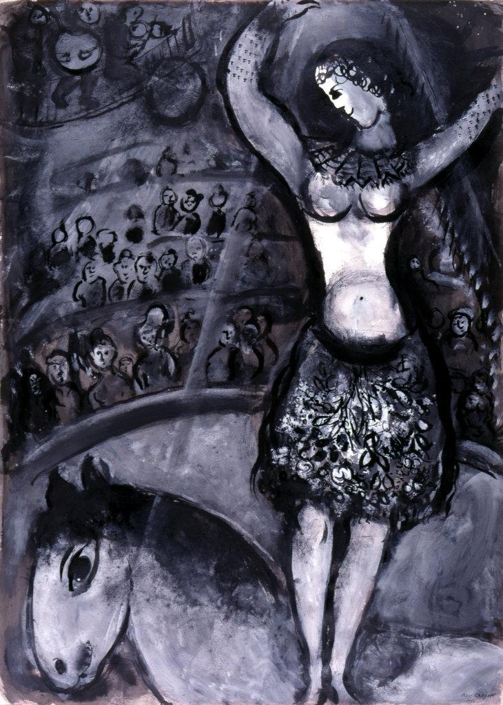 Marc Chagall, L'écuyère, 1955