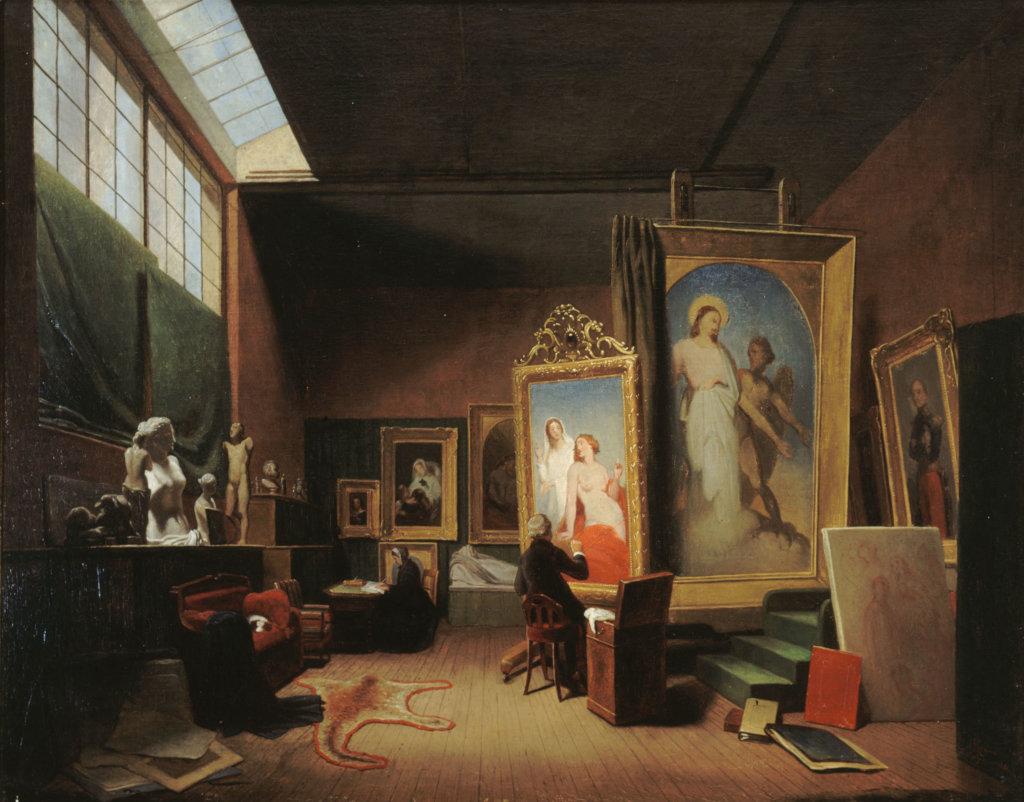 Arie Johannes Lamme, Atelier d'Ary Scheffer