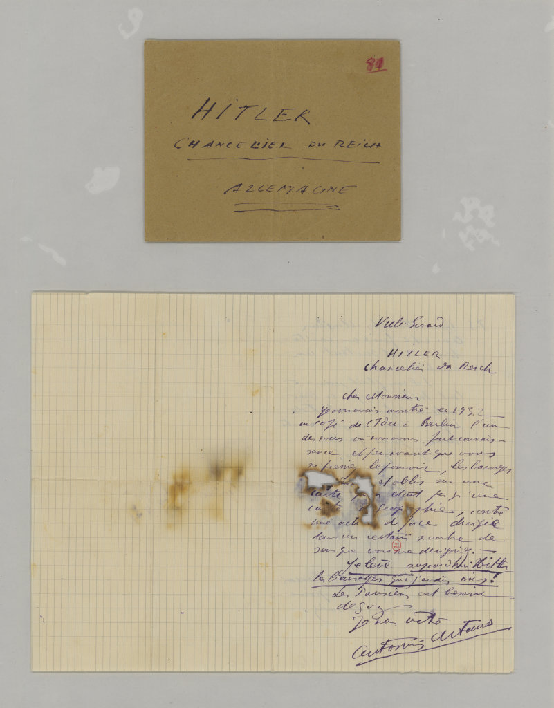 Artaud, Sort à Hitler