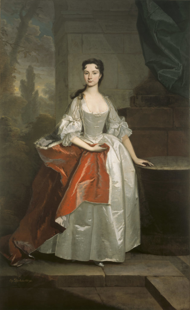 ELIZABETH KNIGHT, LADY ONSLOW by Michael Dahl, post-conservation at Clandon Park, Surrey
