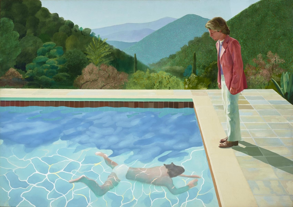 © David HOCKNEY, Portrait of an artist (pool with two figures), 1972, collection privée