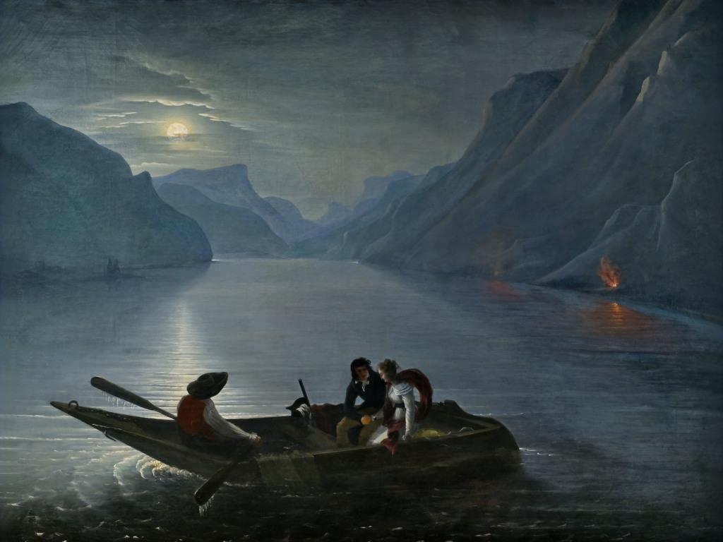 Charles Edouard Le Prince, Promenade de Julie et Saint-Preux sur le lac de Genève