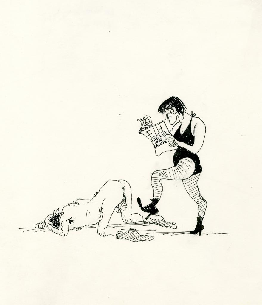 Claire Bretécher, Sans titre, c. 1990 Encre de Chine sur papier, 25 x 20,5 cm