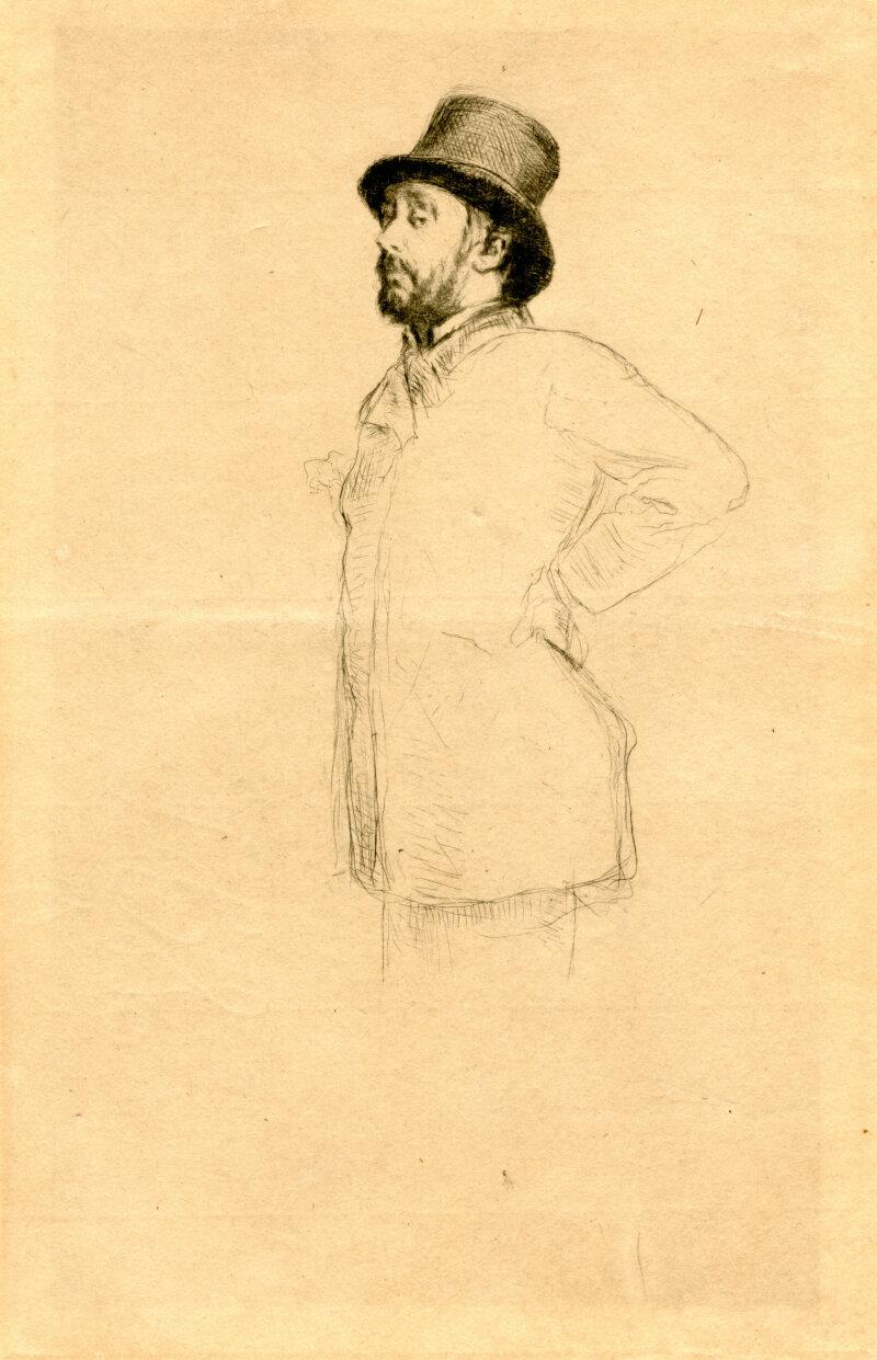 Marcel Desboutin, Edgar Degas au chapeau