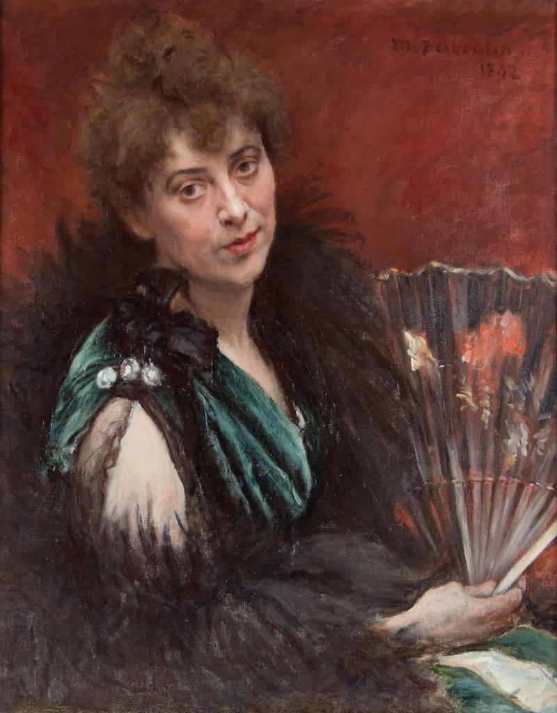 Marcellin Desboutin, Femme à l'éventail, 1892
