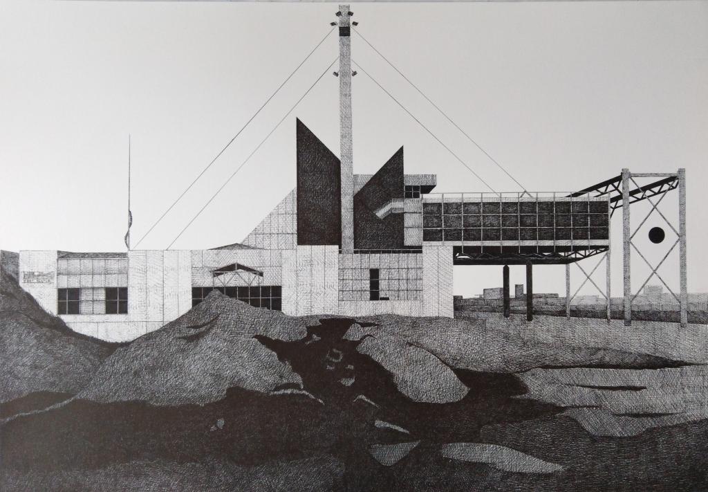 Francois Trocquet, Sans Titre, 2018 Stylo à bille sur papier, 70 x 100 cm