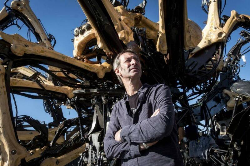 François Delarozière devant l'araignée, Toulouse © ERIC CABANIS, AFP, Archives