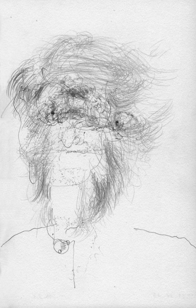 Gerhard Lang, Face - 2.31 pm, 2013 Graphite, 21,5 x 13,7 cm