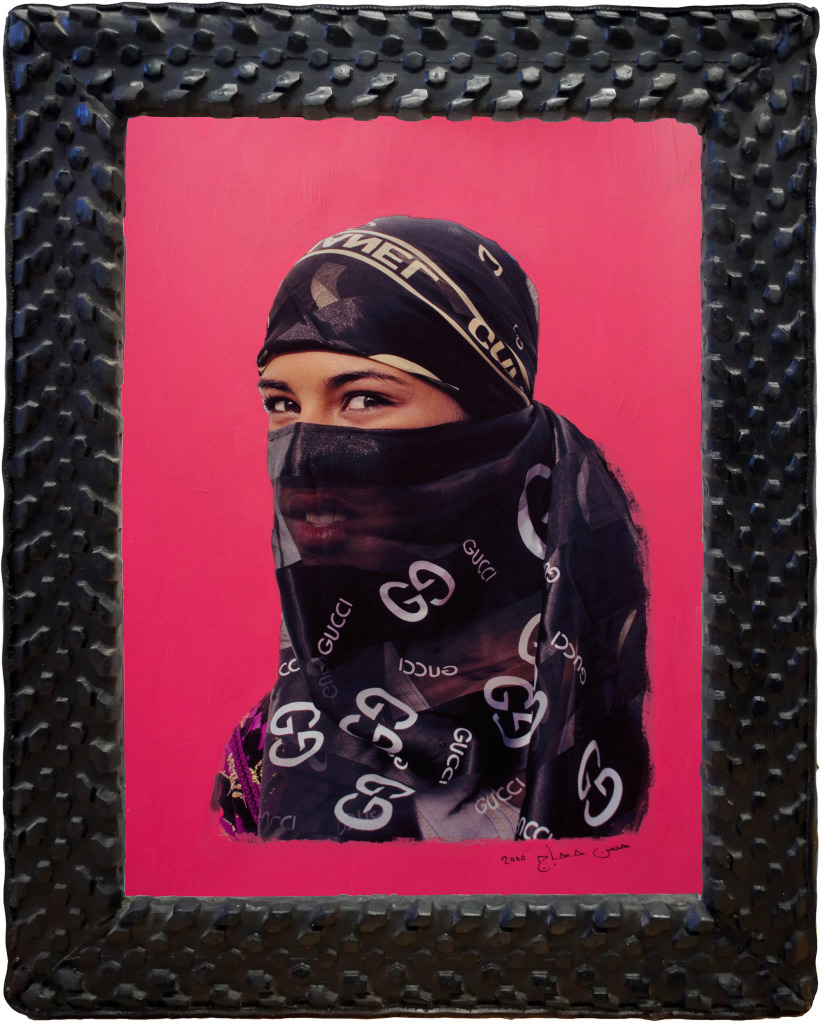 Hassan Hajjaj Malicious Look (HPP) De la série « Handpainted Portraits »