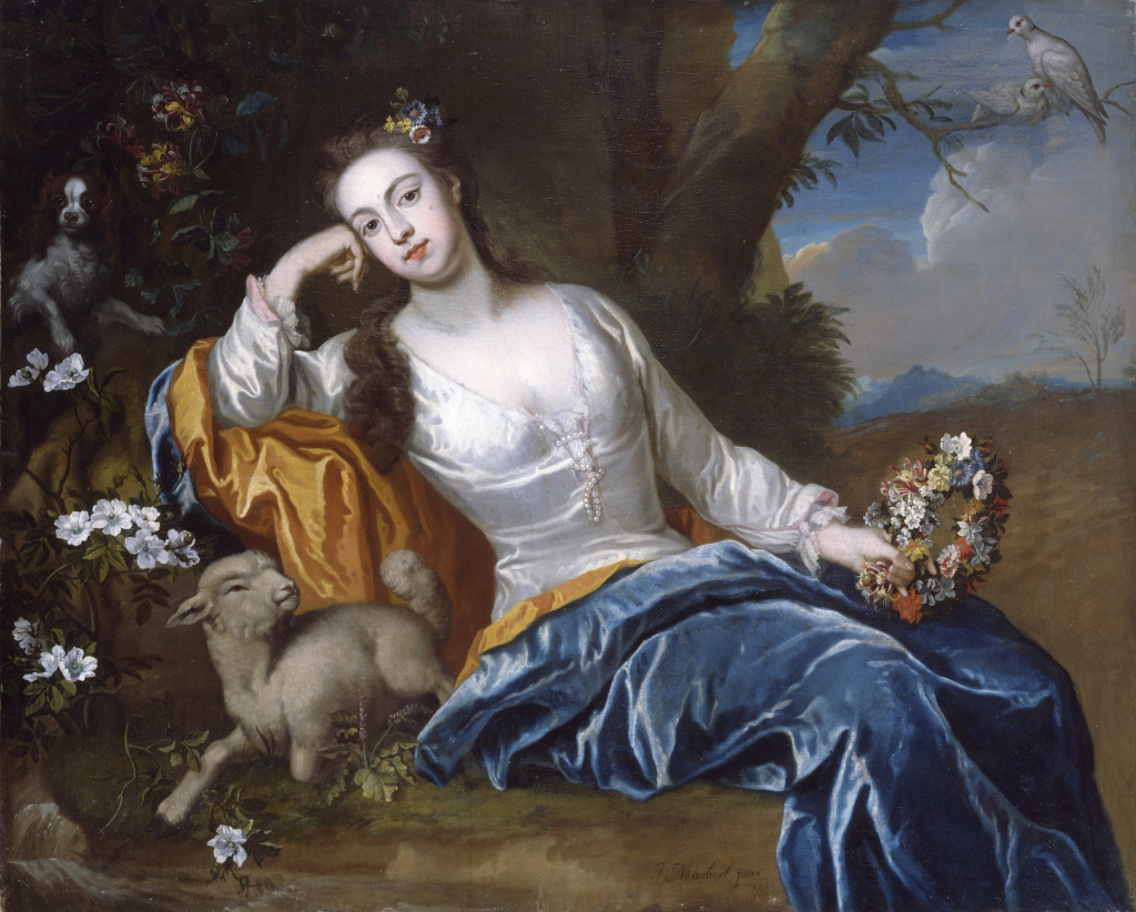 James Maubert, Portrait of Henrietta, Duchess of Bolton as a Shepherdess, 1721. Photo © National Gallery of Ireland