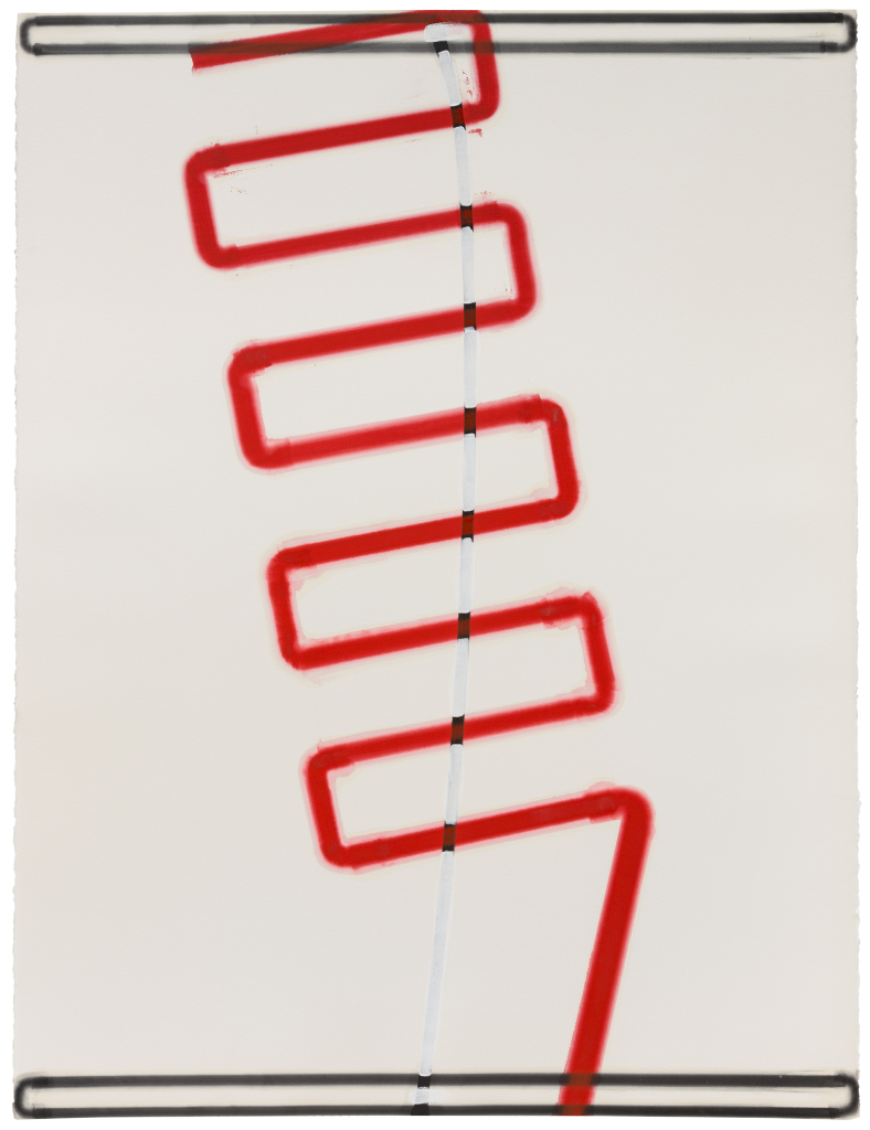 Jose Loureiro, Sem Titulo, 2015 Huile sur papier, 160 x 120 cm