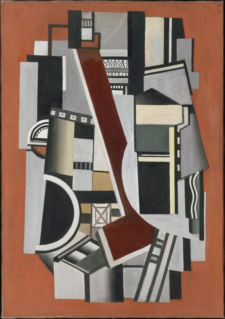 Fernand LégerEléments mécaniques sur fond rouge, 1924