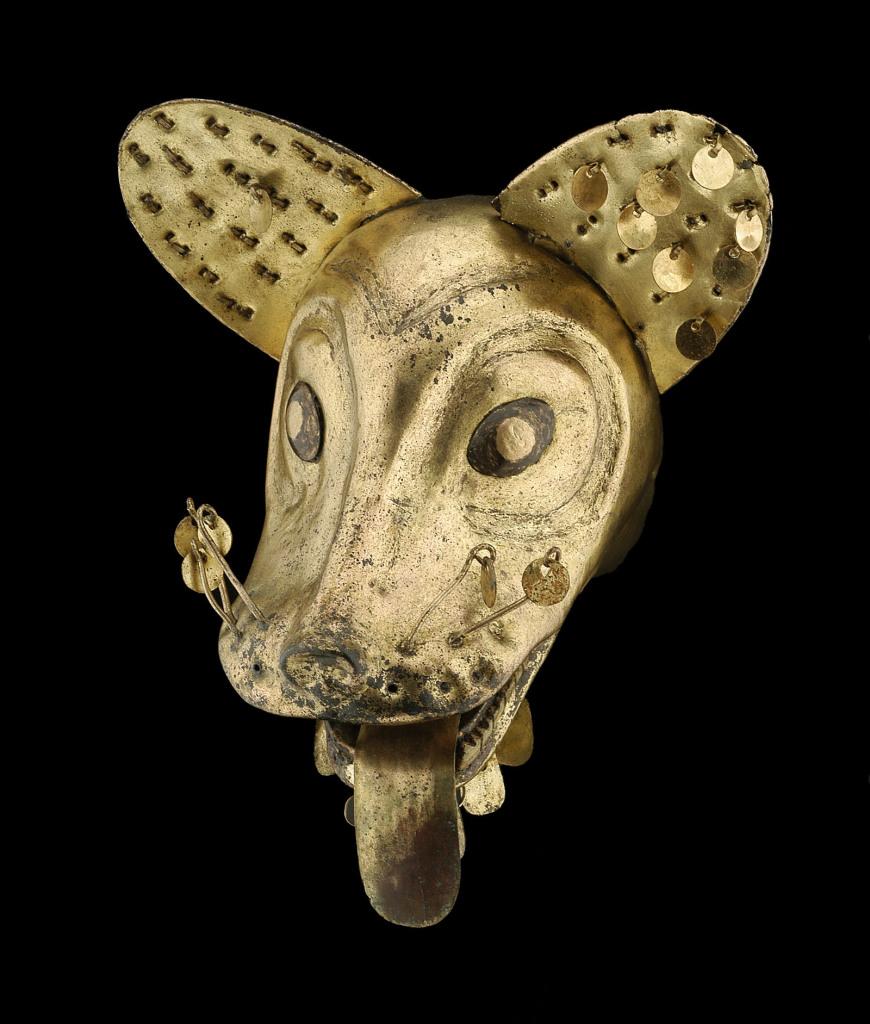 Sommet de masque ou de coiffe Pérou – Côte Nord Culture Mochica Intermédiaire ancien 100 – 600 ap. J.-C.