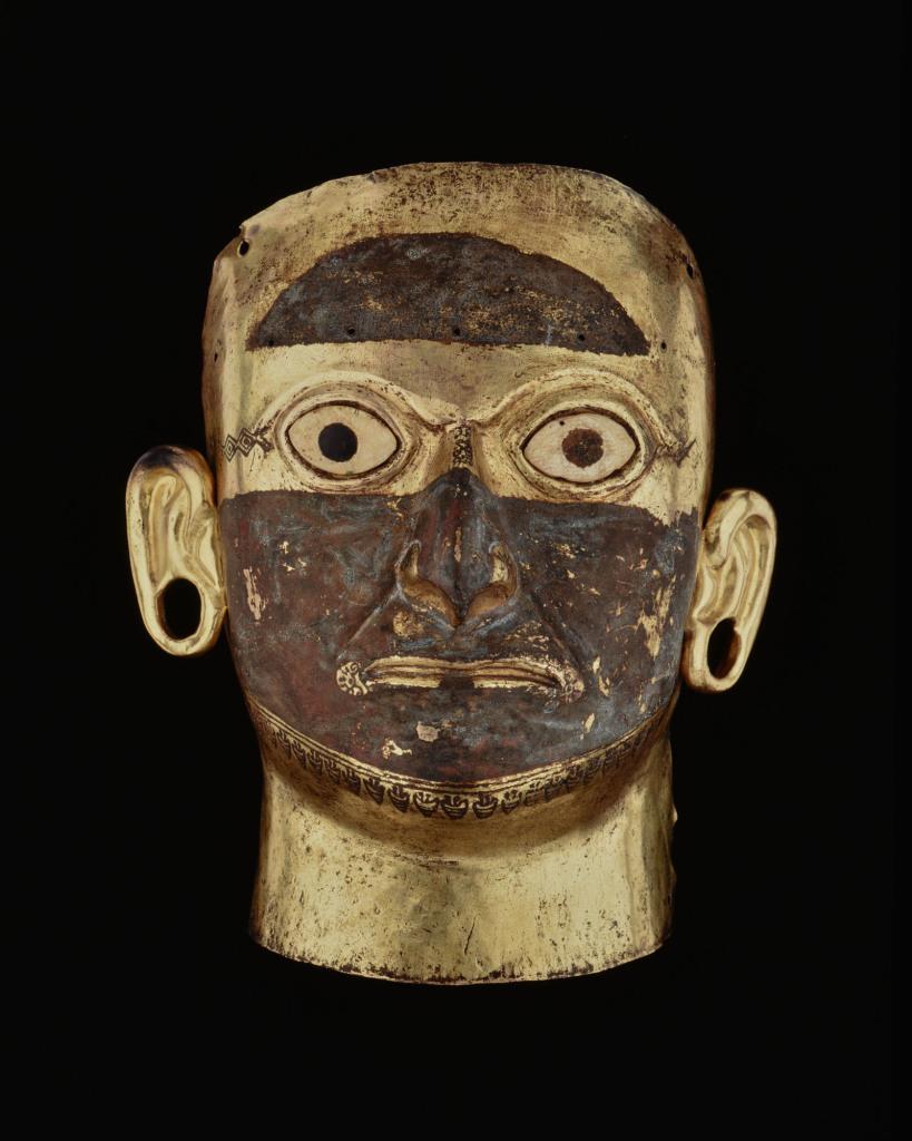 Masque funéraire Pérou – Côte Nord Culture Mochica Intermédiaire ancien 100 – 600 ap. J.-C.